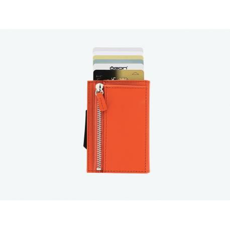 Portfel Ögon Design Cascade Orange Zipper