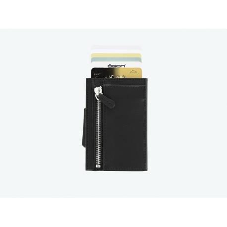 Portfel Ögon Design Cascade Black Zipper