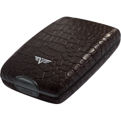 Portfel Tru Virtu Cash & Cards Leather Line Croco Brown