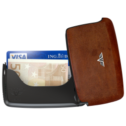 Tru Virtu Card Case Leather Natural Brown