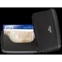 Tru Virtu Card Case Leather Pebble Black
