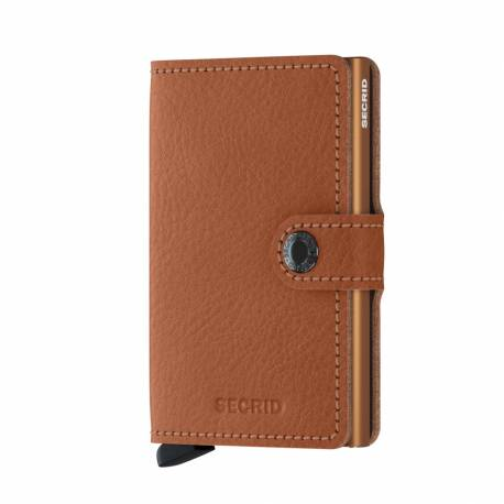 Portfel Secrid Miniwallet Perforated Cognac