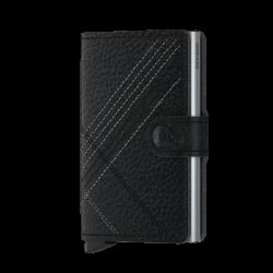Portfel Secrid Miniwallet Stitch Linea Black