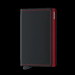 Portfel Secrid Slimwallet Matte Black&Red