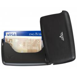 Tru Virtu Card Case Leather Nappa Black Tassel