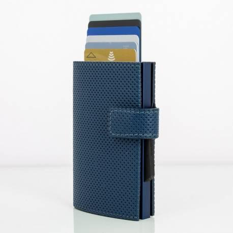 Portfel Ögon Design Cascade Snap Navy-Blue