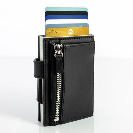 Portfel Ögon Design Cascade Snap Zipper Black