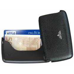 Portfel Tru Virtu Card Case Leather Lizzard Black