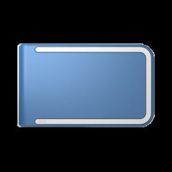 Portfel Dosh RFID Luxe Concord - White + Denim Blue