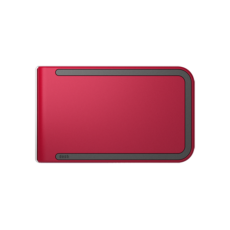 Portfel Dosh RFID Luxe Chilli - Charcoal + Maroon